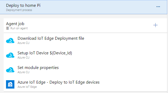 Tasks for deploying to an IoT Device