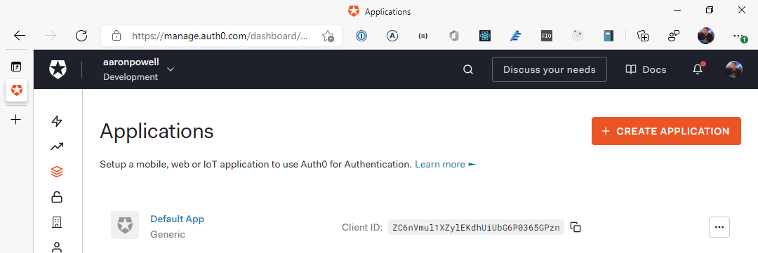 Manage Auth0 Applications