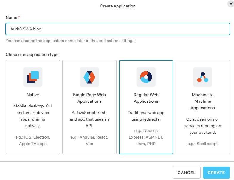 Create an application